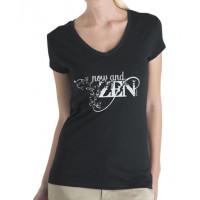 Ladies T-Shirt - Now & Zen (Black)